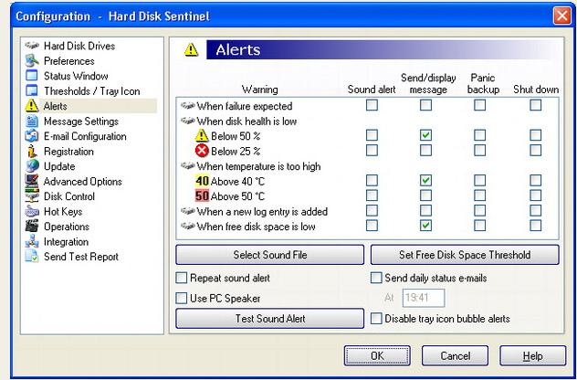 Hard Drive Software, Hard Disk Sentinel Standard Edition Screenshot