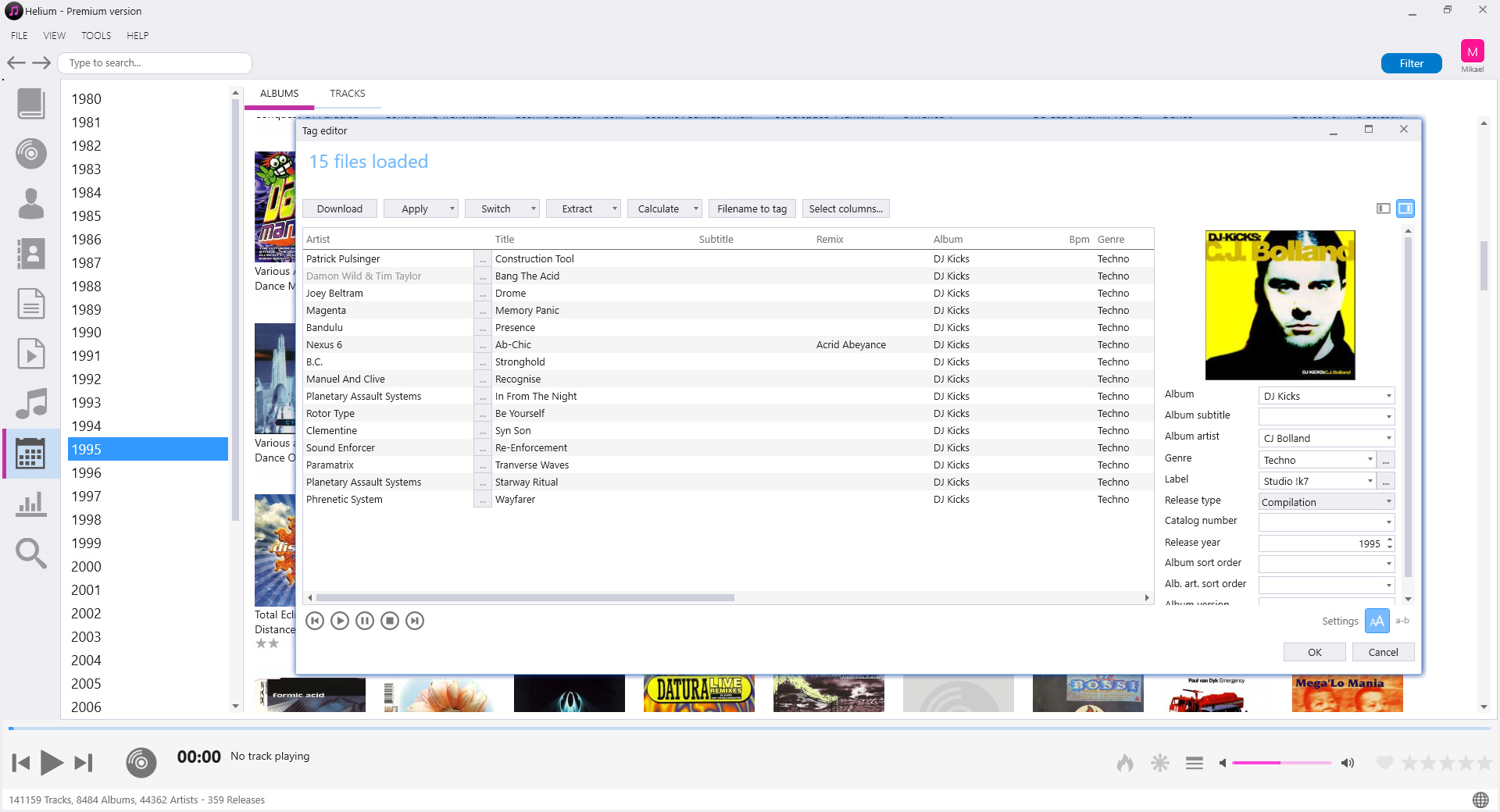 Music Software, Helium Premium Screenshot