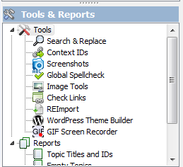 Helpinator, Help Authoring Software Screenshot