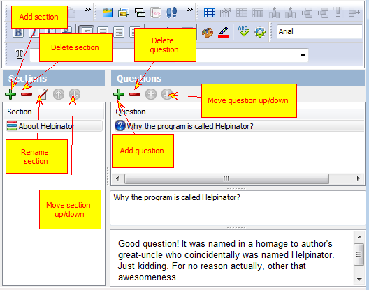 Help Authoring Software, Helpinator Screenshot
