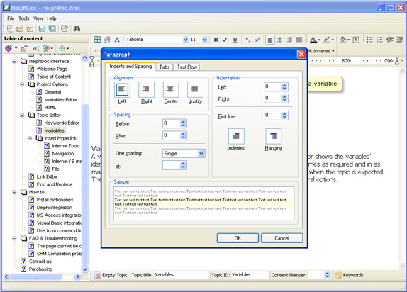 Help Authoring Software, HelpNDoc Standard Edition Screenshot