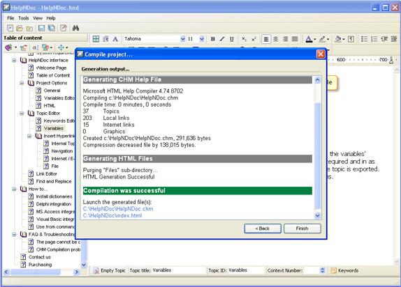 Development Software, Help Authoring Software Screenshot