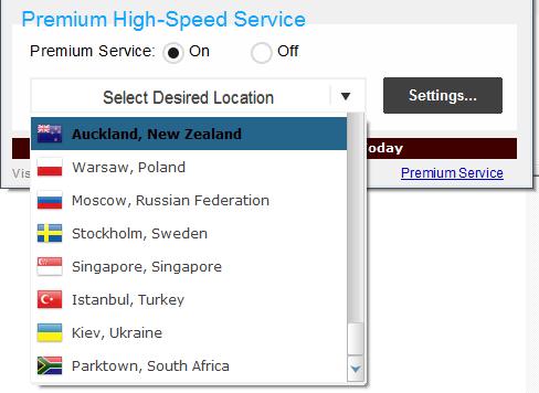 Hide My IP, Security Software Screenshot