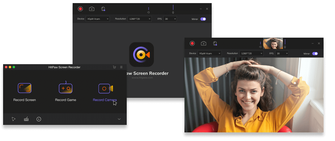 HitPaw Screen Recorder, Video Capture Software Screenshot
