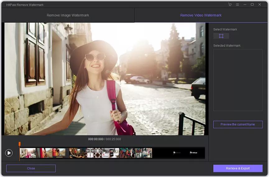 HitPaw Watermark Remover Screenshot