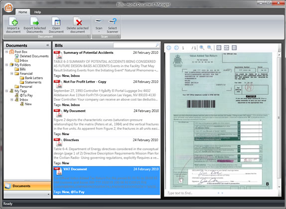 Home Document Manager Screenshot