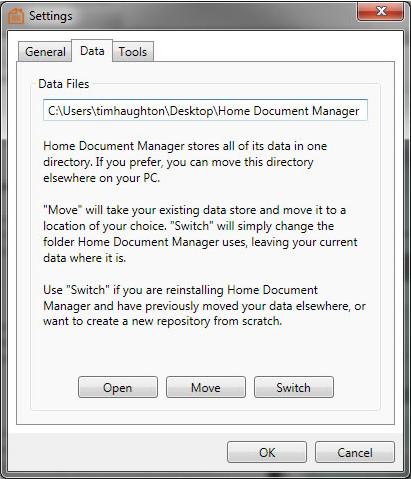 Home Document Manager, Business & Finance Software Screenshot