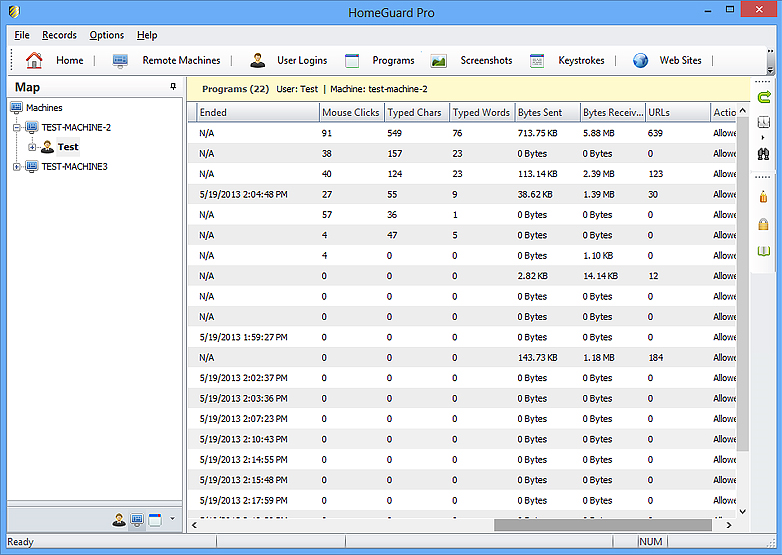 HomeGuard Professional, Security Software Screenshot