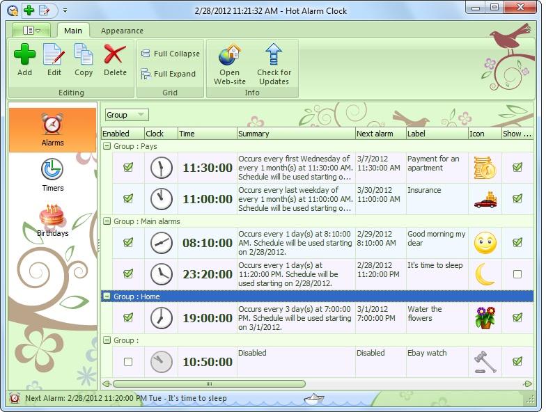 Hot Alarm Clock Screenshot