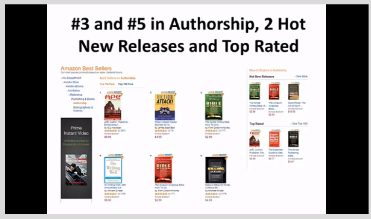 Learning and Courses Software, How To Become a Bestselling Author on Amazon Kindle Screenshot