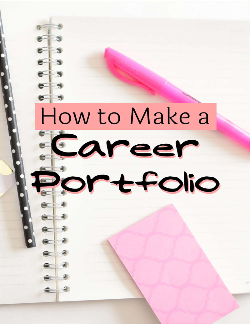 How to Make a Career Portfolio Screenshot