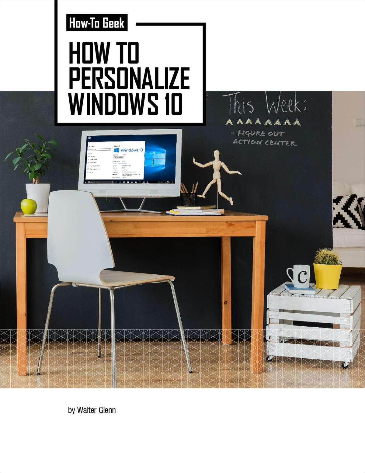 How To Personalize Windows 10 Screenshot