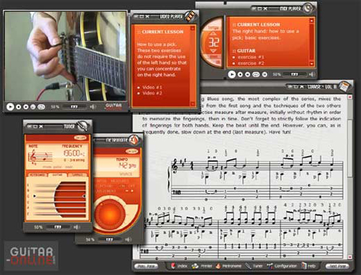 How to play the guitar, Music Software Screenshot
