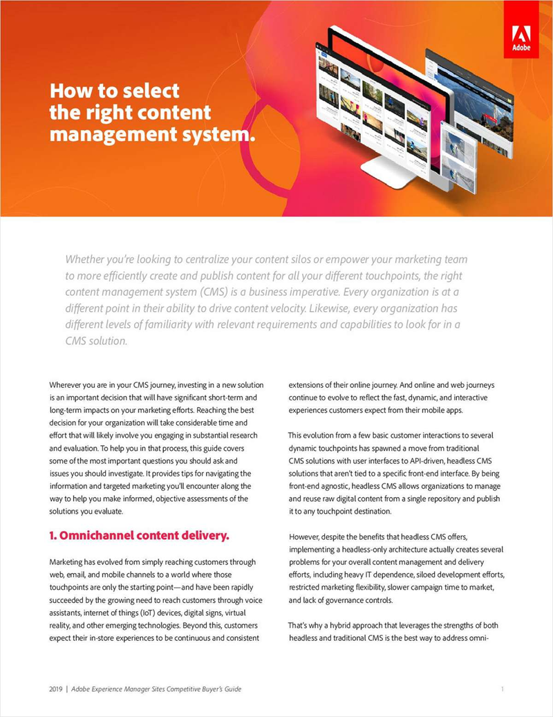 How to Select the Right Content Management System Screenshot