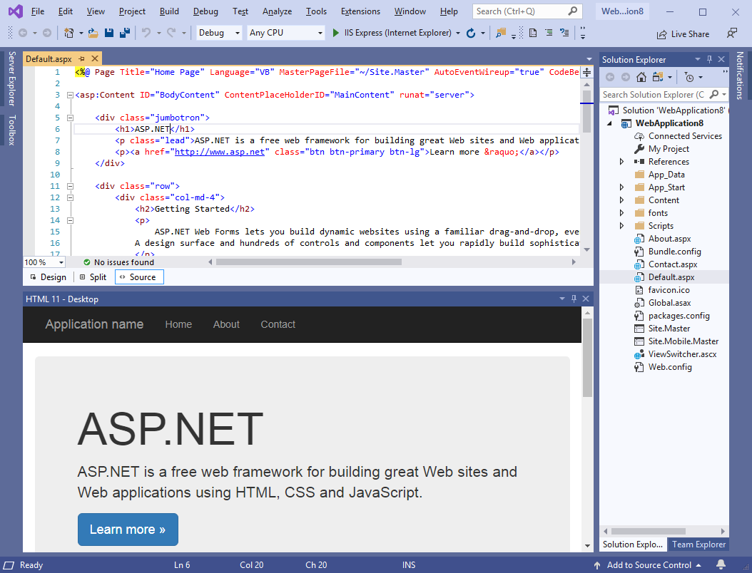HTML 11, Development Software Screenshot
