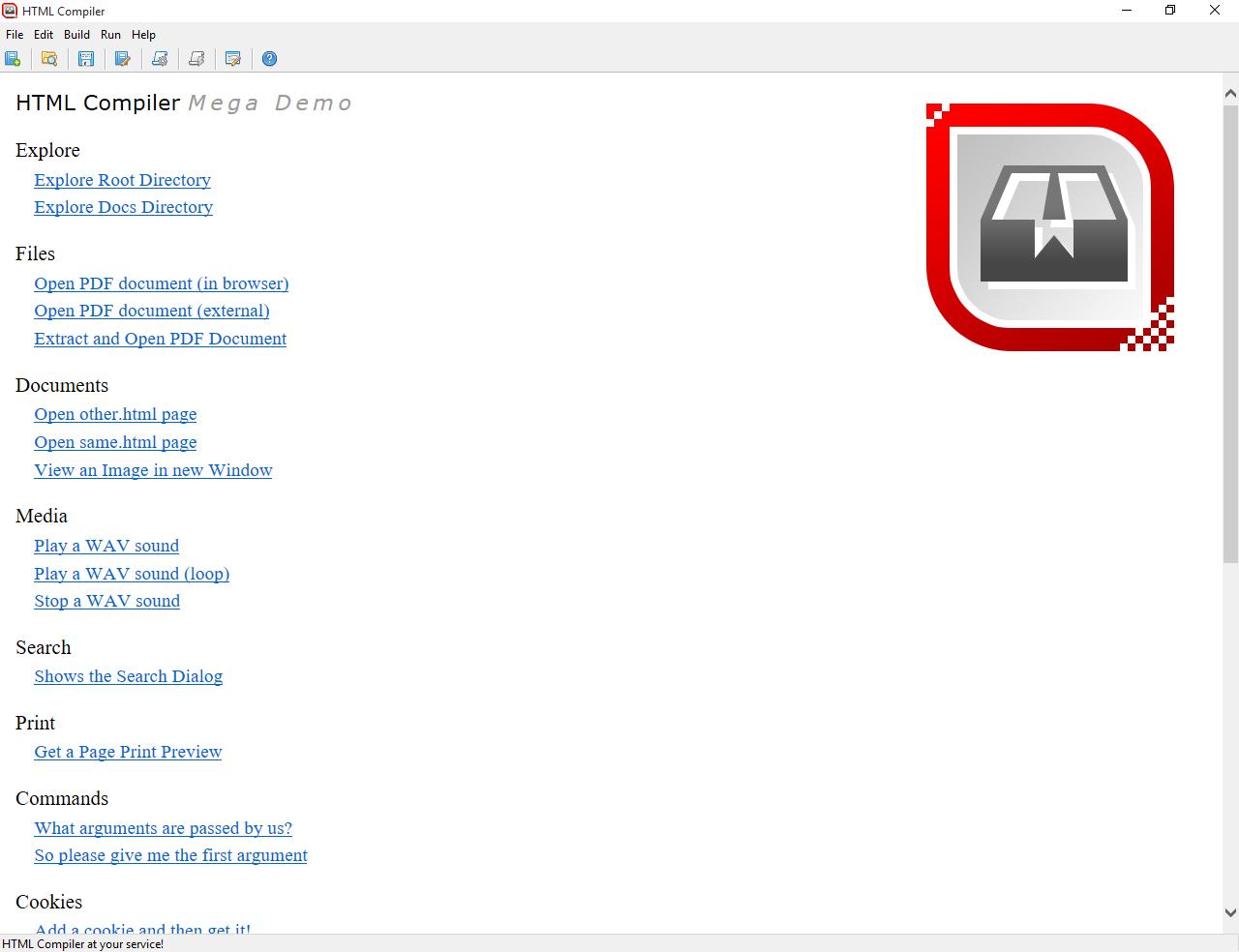 HTML Compiler Screenshot