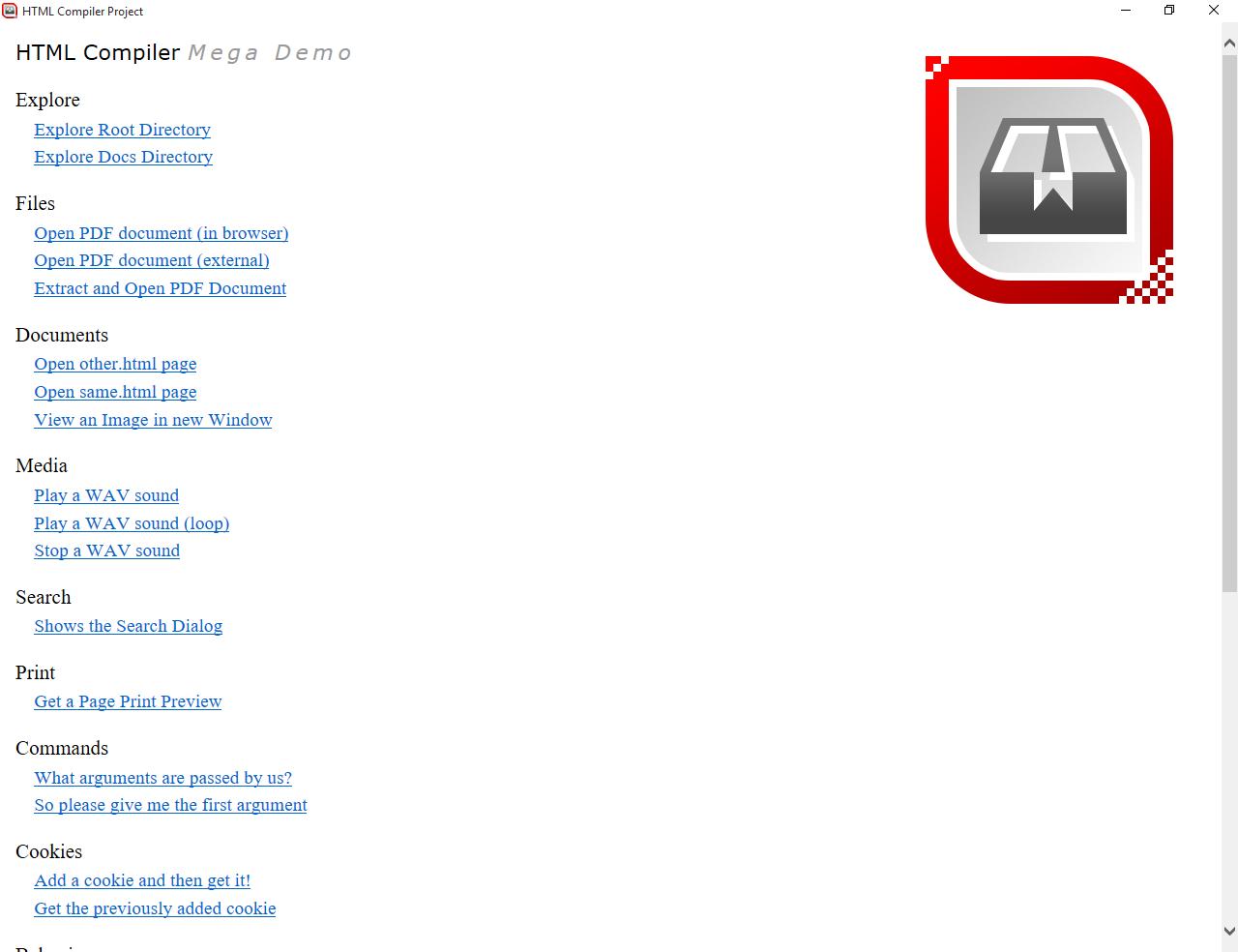 HTML Compiler, Development Tools Software Screenshot
