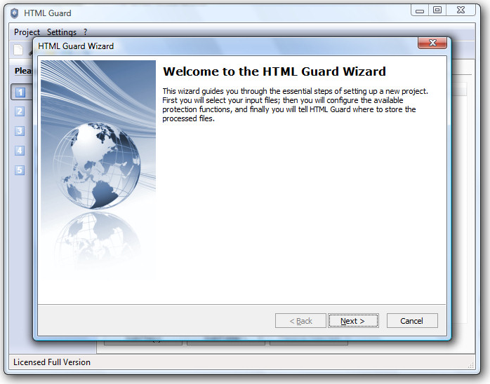 HTML Guard, Security Software Screenshot
