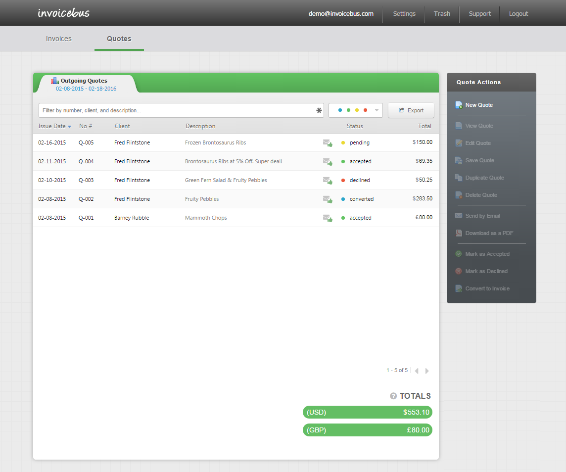 Simple online invoicing - Invoicebus Screenshot 9