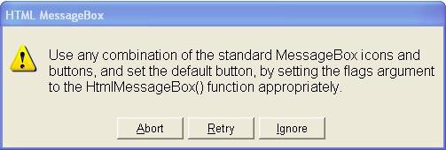 Desktop Customization Software, HTML MessageBox Screenshot
