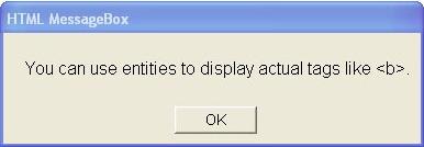HTML MessageBox, Desktop Customization Software Screenshot