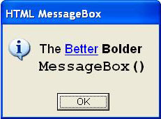 HTML MessageBox Screenshot