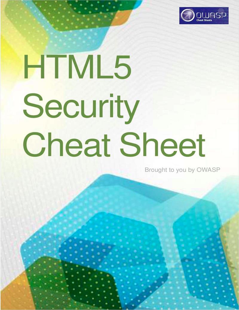 HTML5 Security Cheat Sheet Screenshot