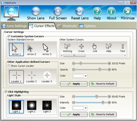 HyperLens, Presentation Software Screenshot