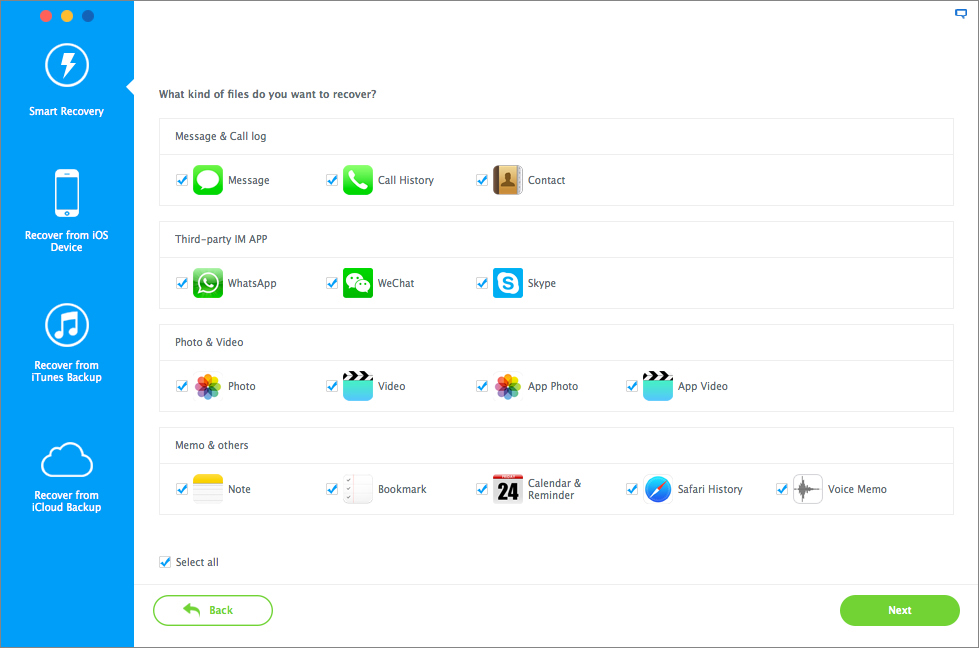 Software Utilities, iMyfone D-Back Screenshot