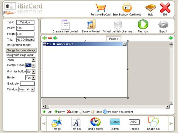 iBizCard, Productivity Software Screenshot
