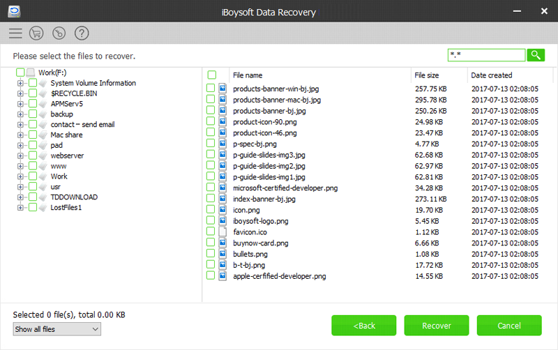 iBoysoft Data Recovery, Backup and Restore Software Screenshot