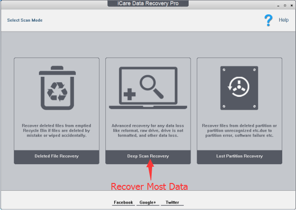 iCare Data Recovery Pro Screenshot