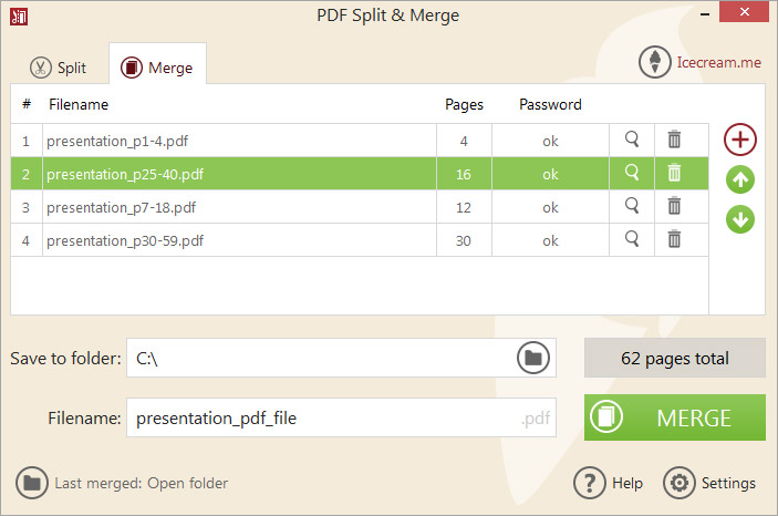 Icecream PDF Split & Merge PRO, PDF Utilities Software Screenshot