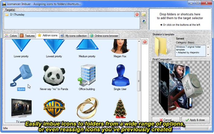icomancer, Folder Software Screenshot