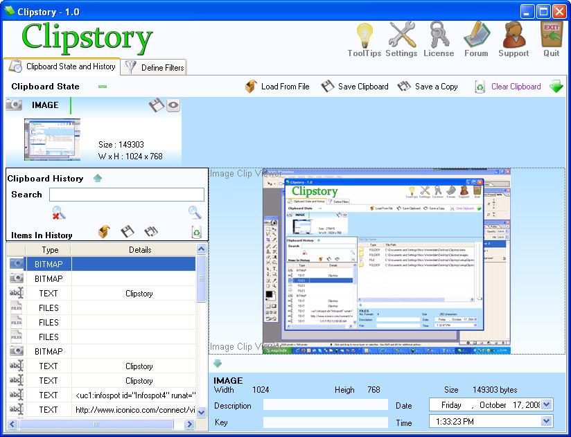 Software Utilities, Iconico Desktop Tools A La Carte Screenshot
