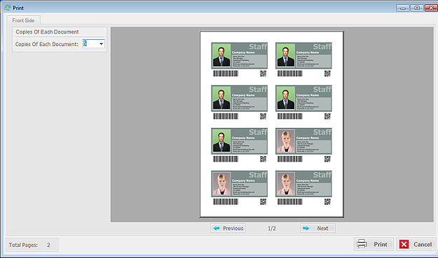 Business Management Software, ID Card Workshop - Single User Full License Screenshot