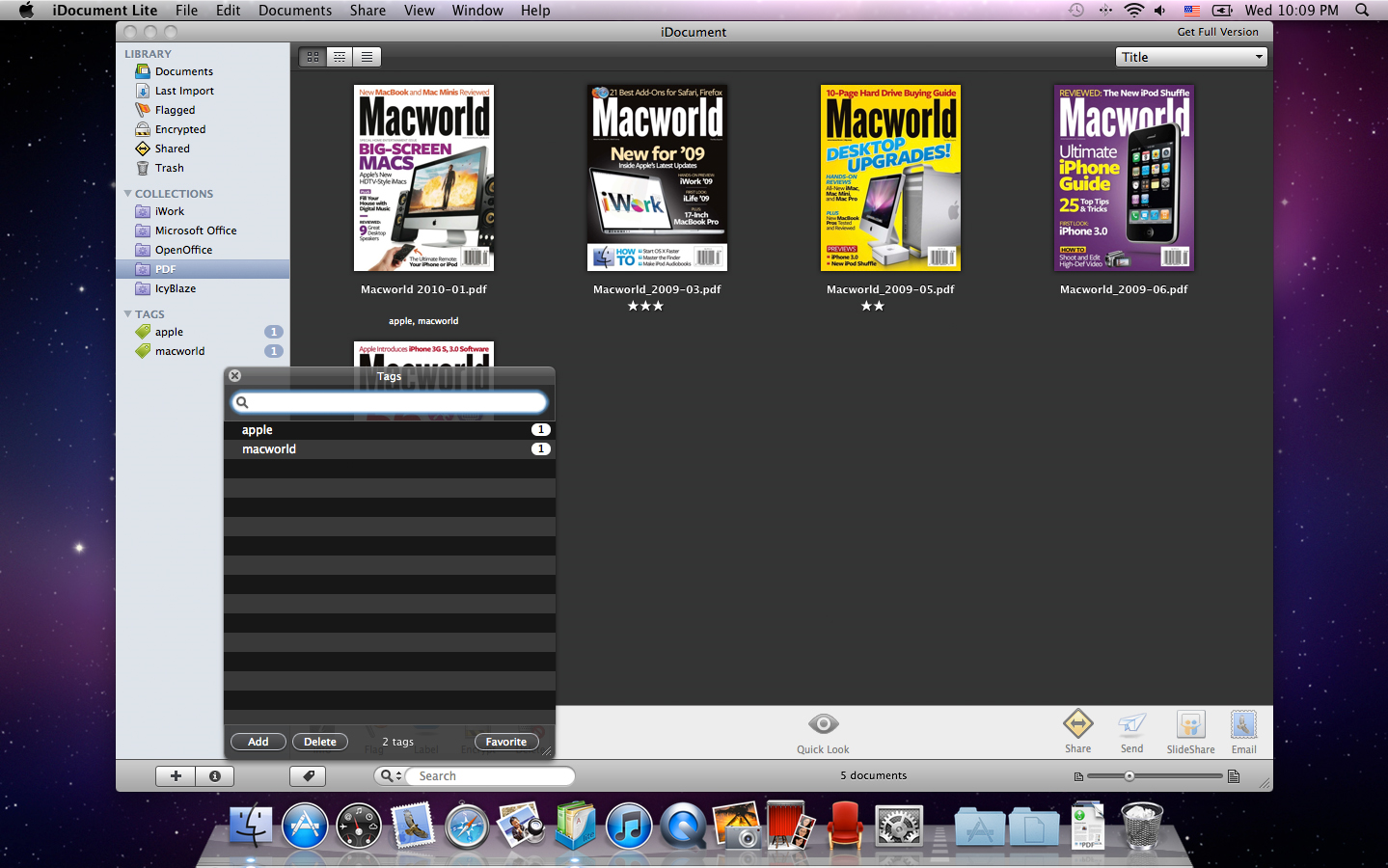 iDocument, Software Utilities Screenshot