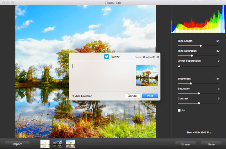 Photo Editing Software, Photo HDR for Mac Screenshot