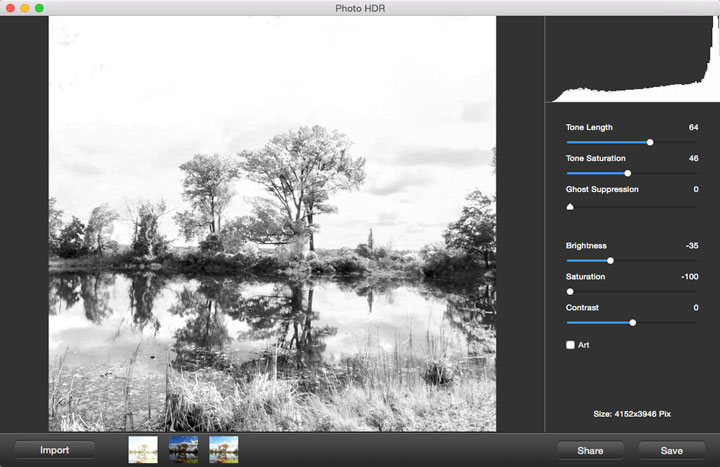 Photo HDR for Mac, Design, Photo & Graphics Software Screenshot
