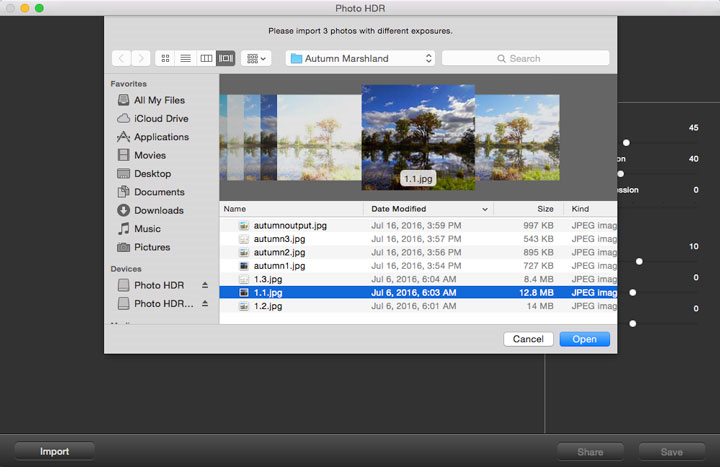 Photo HDR for Mac, Photo Editing Software Screenshot
