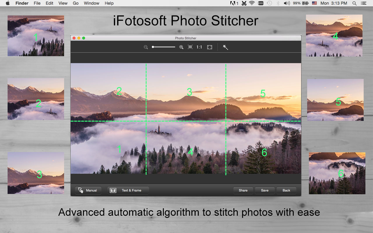 iFotosoft Photo Stitcher for Mac Screenshot
