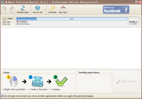 IM-Magic Partition Resizer Pro Screenshot