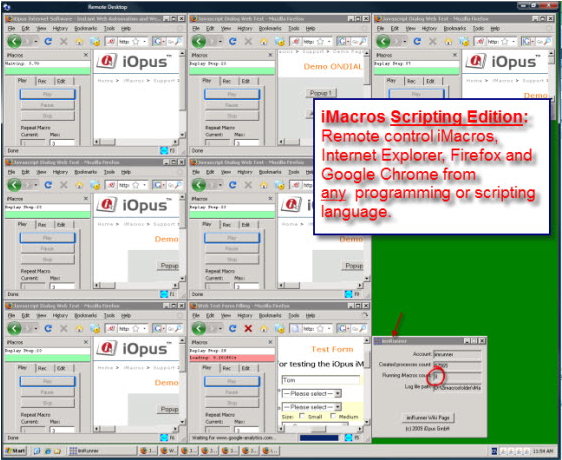 Macros Software, iMacros Screenshot