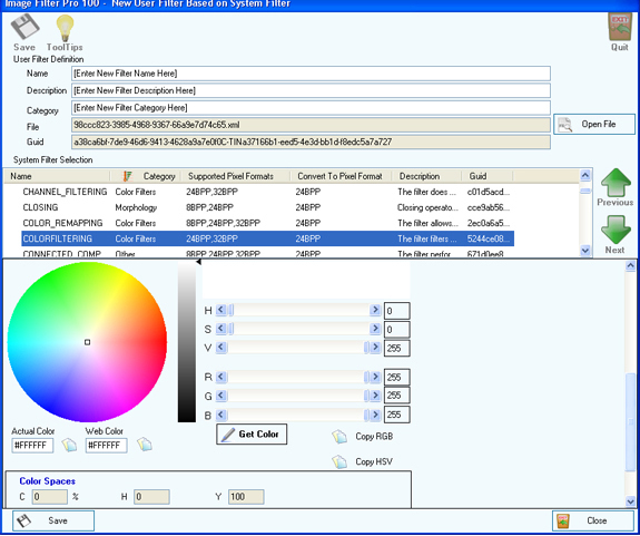 Image Filter Pro 100, Misc & Fun Graphics Software Screenshot