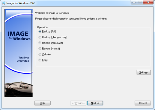 Image for Windows Screenshot