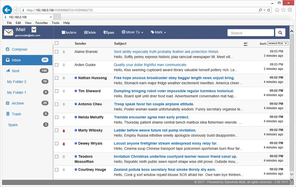 iMail Screenshot