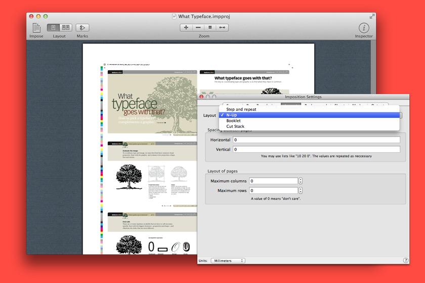 Imposition Wizard, Software Utilities Screenshot