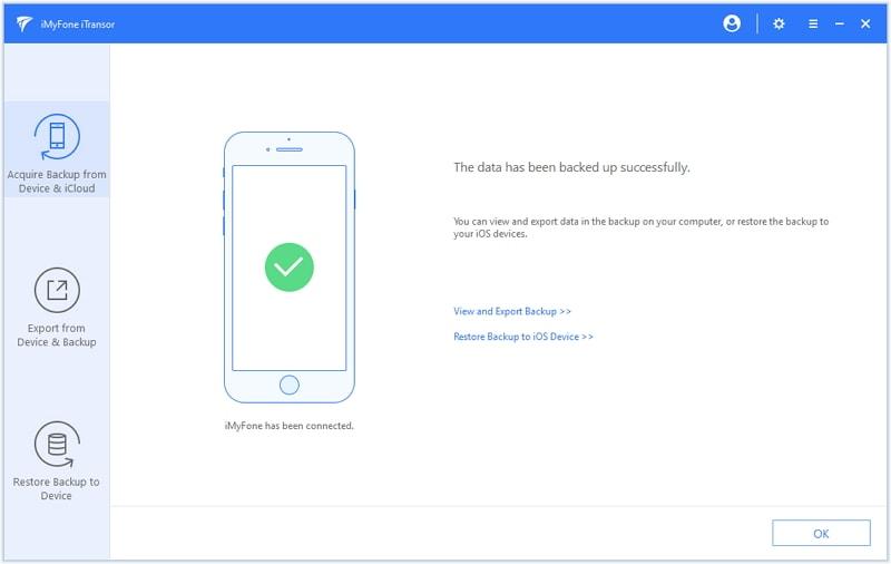 iMyfone iTransor, Backup and Restore Software Screenshot