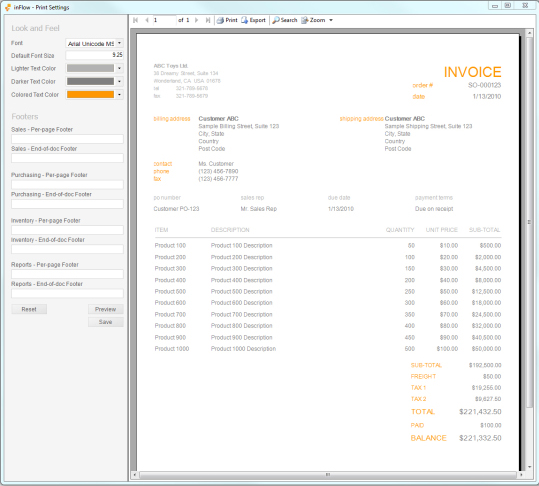 Business Management Software, inFlow Inventory Screenshot