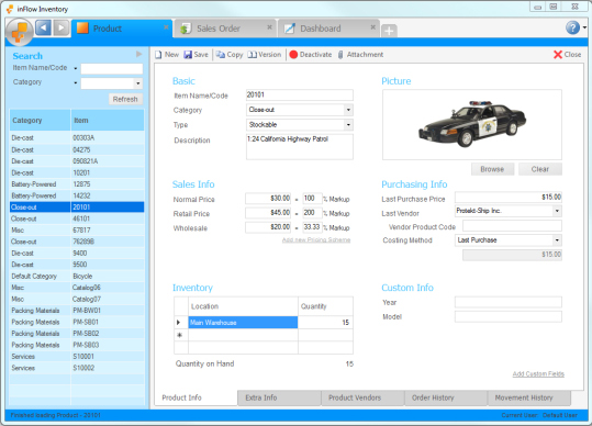inFlow Inventory, Business Management Software Screenshot